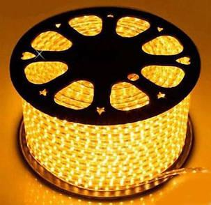 Светодиодная лента желтая SMD 2835/120 220V IP68 (1м) Код.59221, фото 2