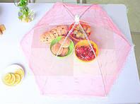Антимоскитная сетка - крышка для продуктов pink (розовый)