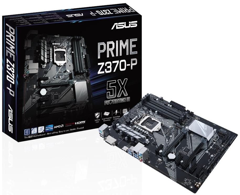 "Материнская плата Asus Prime Z370-P Socket 1151v2 DDR4 ""Over-Stock"" Б/У"