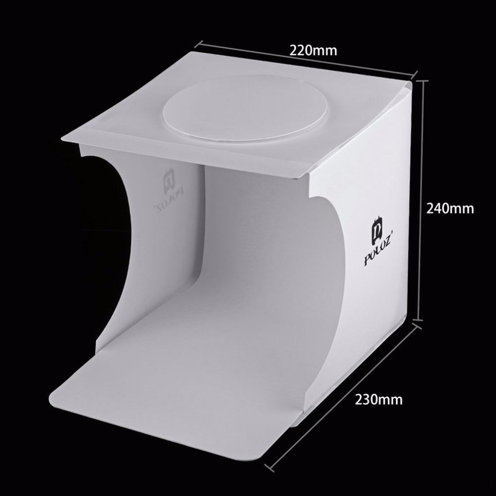 Світловий лайткуб (photobox) Puluz PU5022 з LED підсвічуванням для предметної макрозйомки 24*23*22 см (SUN0116) - фото 3
