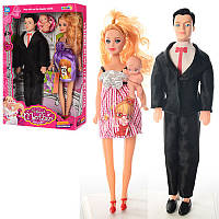 Набір ляльковий Сім'я 5104, пупс, 2 види, вагітна лялька, в коробці, 21,5-32-6,5см