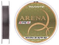 Шнур Favorite Arena PE 4x 100м #0.175/0.071мм 3.5lb/1.4кг (серо-стальной)