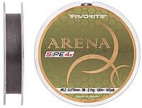 Шнур Favorite Arena PE 4x 100м #0.2/0.076мм 5lb/2.1кг (серо-стальной)