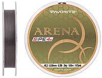 Шнур Favorite Arena PE 4x 100м #0.3/0.09мм 6.5lb/3.0кг (серо-стальной)