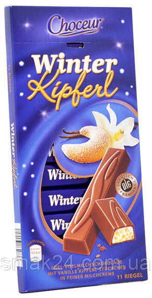 Шоколад молочный Winter Kipberl Chateau с хрустящим молочным кремом Германия 200г