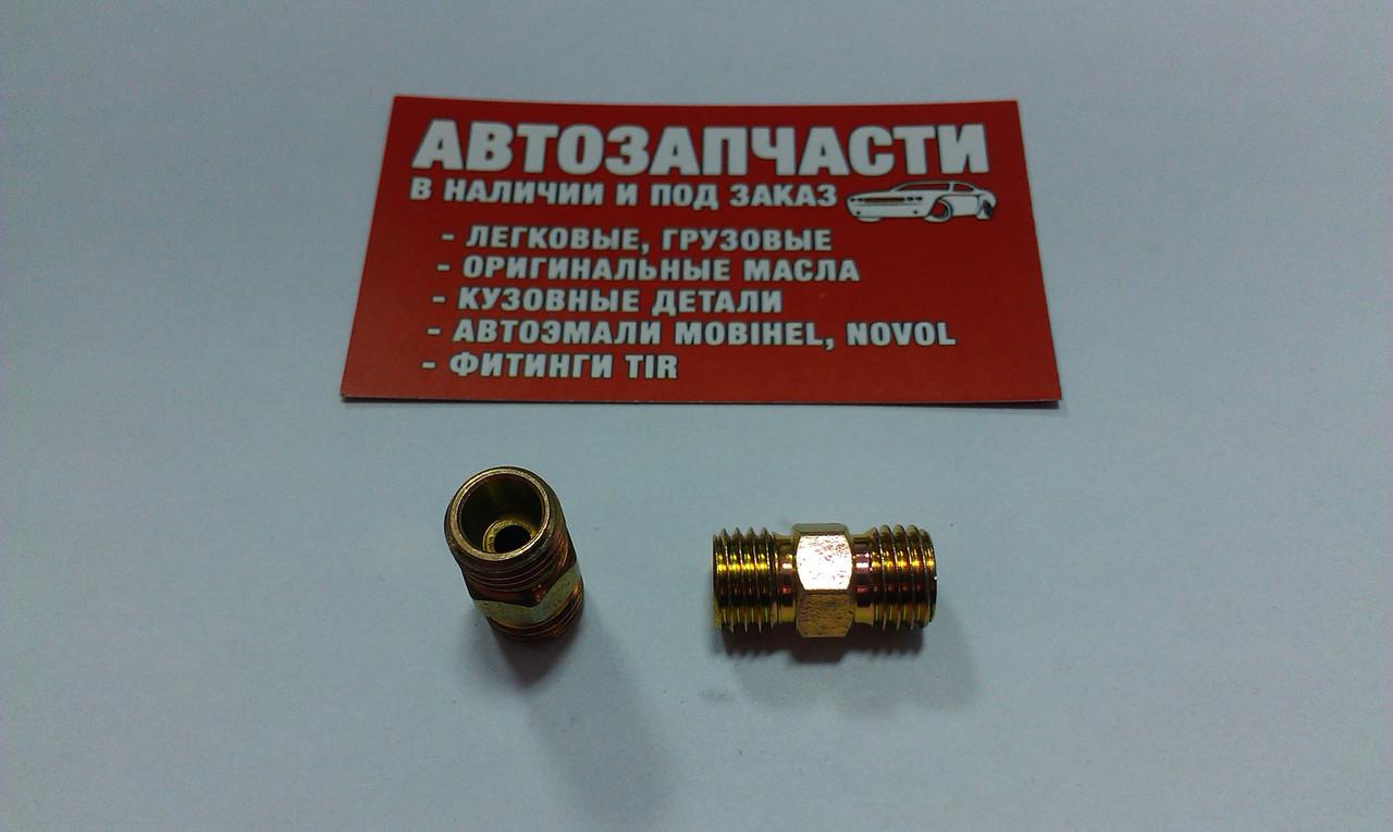 Соединитель резьбовой трубки пластиковой М12х1.5 - М12х1.5