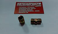 Соединитель резьбовой трубки пластиковой М14х1.5 - М14х1.5 под ключ на 14