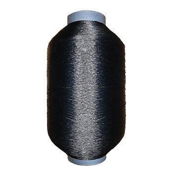 Нитка полиамидная обувная 0,66мм 29 текс 2х3 черная - 250 грамм, фото 2