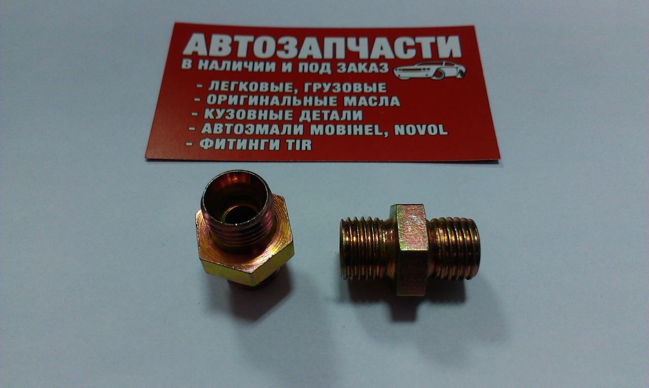 Соединитель резьбовой М14х1.5 под трубку пластиковую ключ на 19