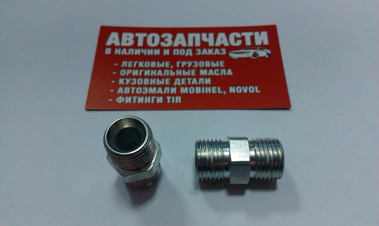 Соединитель резьбовой трубки пластиковой М16х1.5 - М16х1.5 под ключ на 17
