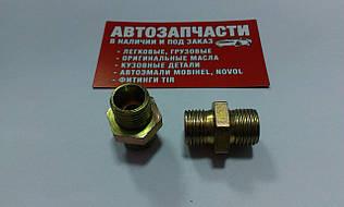 Соединитель резьбовой трубки пластиковой М16х1.5 - М16х1.5 под ключ на 21