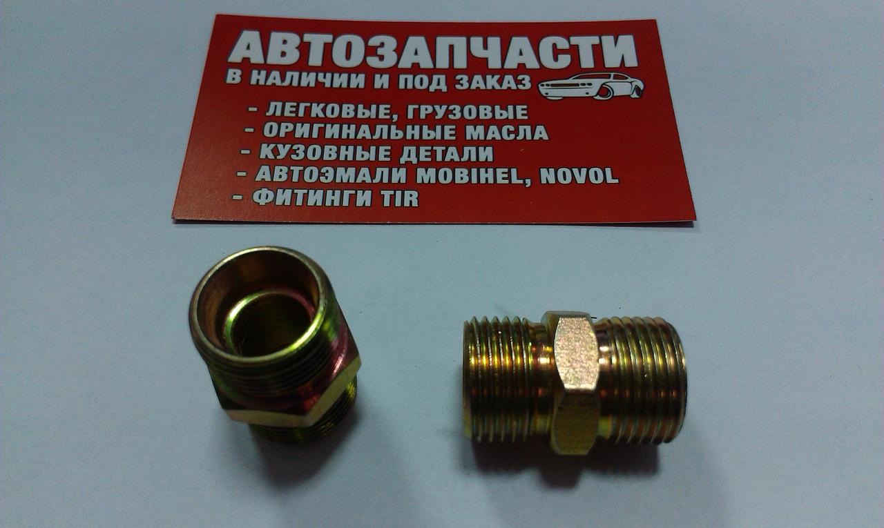 Соединитель резьбовой М18х1.5 под трубку пластиковую
