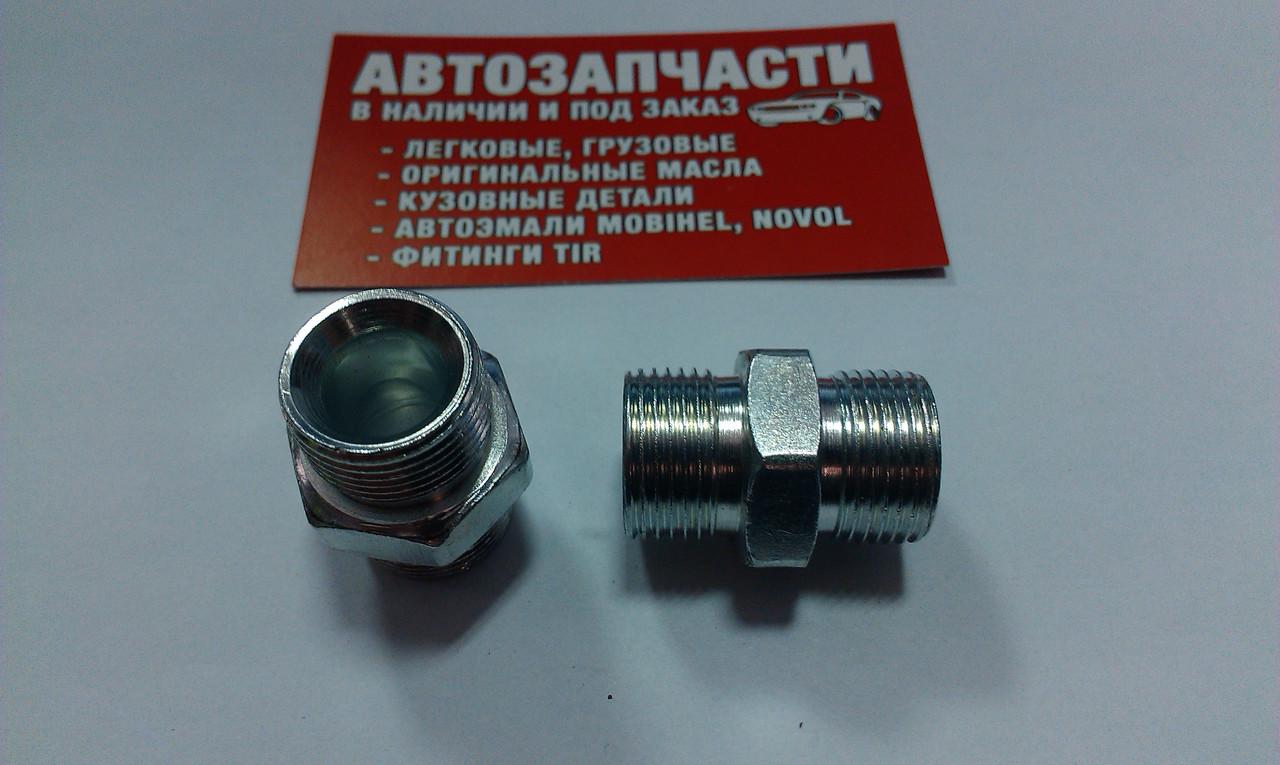 Соединитель резьбовой трубки пластиковой М20х1.5 - М20х1.5