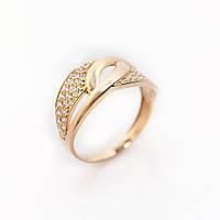 Золотое кольцо с фианитами KП1737