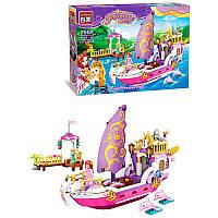 Конструктор для девочки BRICK Розовая серия - Корабль, фигурки, 456деталей, 2609