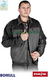 Куртка мужская Bomull рабочая серая REIS Польша (рабочая одежда мужская) BOMULL-J SDS