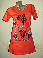 Женская ночная рубашка туника K.S.M хлопок  размер  44, 46, 48, 50