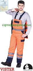 Защитные утепленные брюки с шельками изготовленные из флюоресцентной ткани LH-BIBWINTER PG