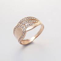 Золотое кольцо с фианитами кп1734