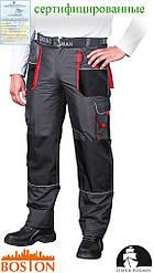 Утепленные брюки до пояса BOSTON выполненные из ткани типа rip-stop LH-BSW-T SBC