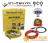 Электрический кабельный теплый пол In-term ECO 17м пог(1,7-2,7м²)350Вт греющий нагревательный кабель