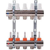 """Коллектор с рег-ми. и запорными вентилями и расходомерами вых. 6 (1"""") ICMA Арт. К013"""