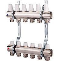 """Коллектор с регулировочными и запорными вентелями б/к вых. 4 (1"""") ICMA Арт. К005"""