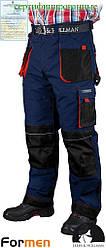 Брюки рабочие зимние мужские темно-синие FORMEN Lebber&Hollman Польша (штаны рабочие) LH-FMNW-T GBC