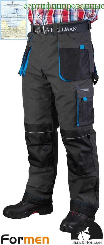 Штани чоловічі робочі зимові сірі FORMEN Lebber&Hollman Польща (штани робочі утеплені) LH-FMNW-T SBN