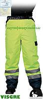 Утепленные защитные брюки до пояса, изготовленные из флуоресцентной ткани LH-VIBETRO Y