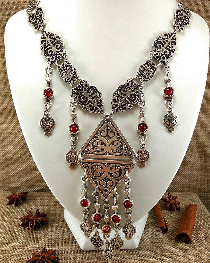 Колье. Серьги. Бижутерии с серебряным покрытием! Osmanli taki. Турция
