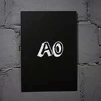 Меловая доска форматом А0 вертикальная