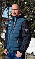 """Мужская,демисезонная разборная куртка-жилет """"Napapijri"""" со съемными рукавами и капюшоном.Новая коллекция 2018."""