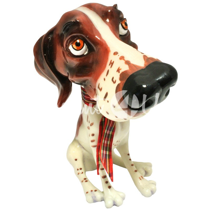 Фигурка-статуэтка коллекционная с керамики собачка «Сид» h-12 см.
