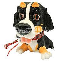 Фигурка собачка бернский зенненхунд «Берни» h-15,5 см.