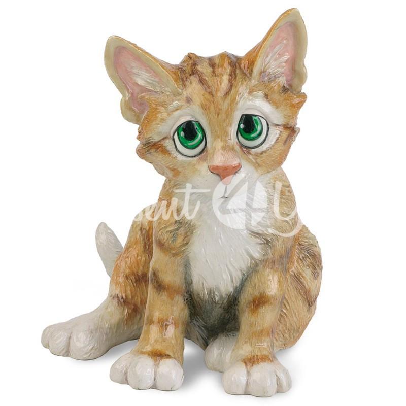 Фигурка-статуэтка коллекционная с керамики кошка «Мими» Англия, h-18 см