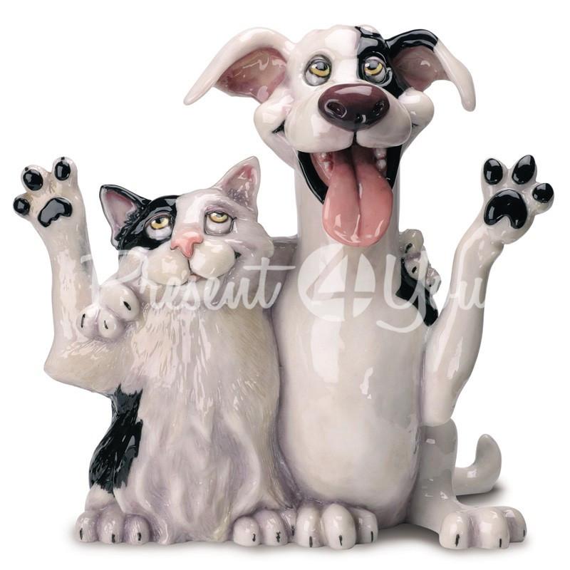 Фигурка-статуэтка коллекционная с керамики друзья «Джек и Джил» Англия, h-22 см