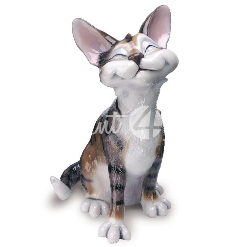Фигурка-статуэтка коллекционная с керамики кошка «Ники» Англия, h-21 см