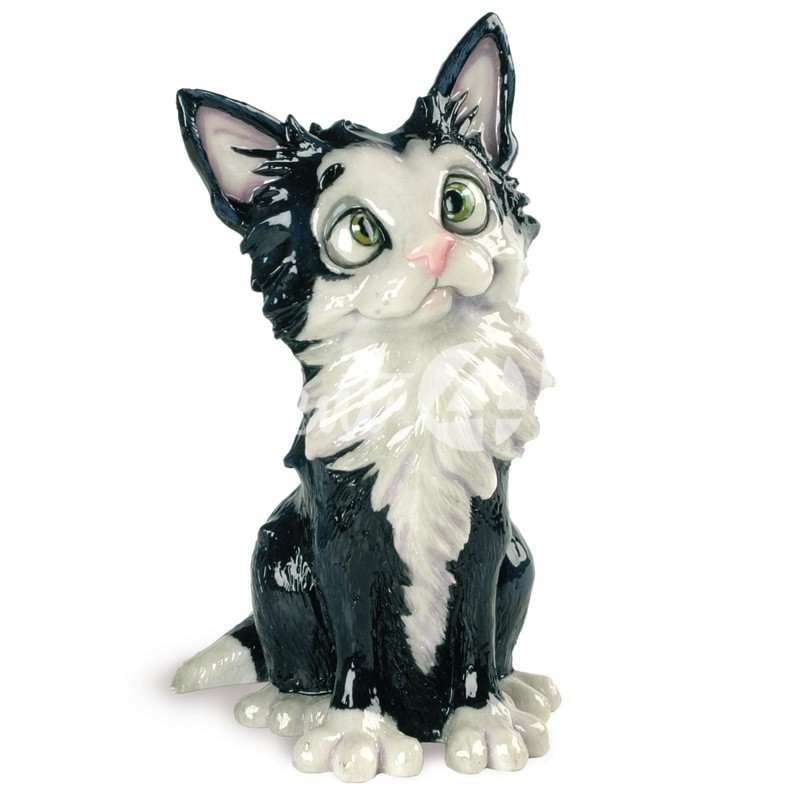 Фигурка-статуэтка коллекционная с керамики кошка «Комет» Англия, h-18 см