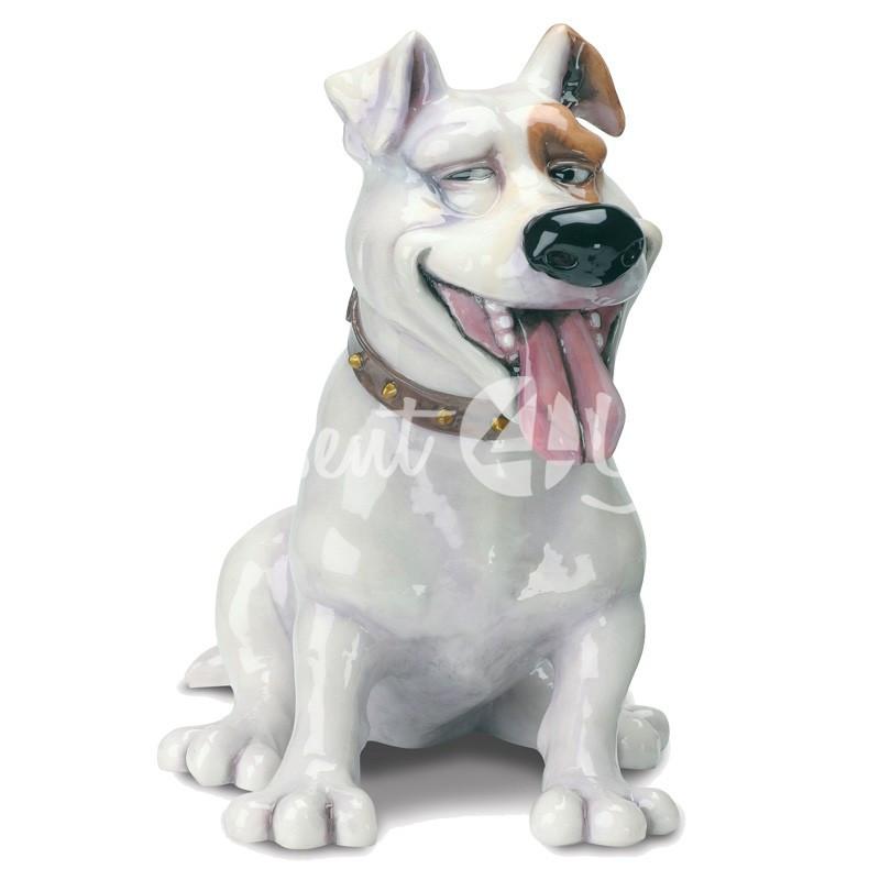 Фигурка-статуэтка коллекционная с керамики собачка «Спайк» Англия, h-20 см