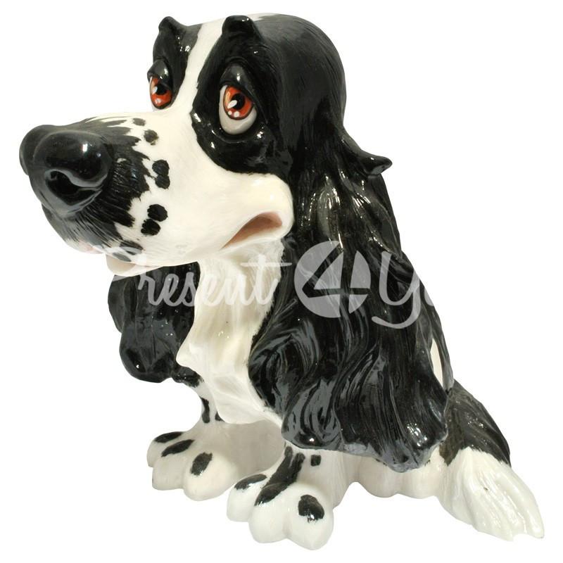 Фигурка-статуэтка коллекционная с керамики собачка «Джазз» Англия, h-16,5 см