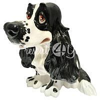 Фигурка-статуэтка собачка «Джазз» коллекционная из керамики Англия, h-16,5 см