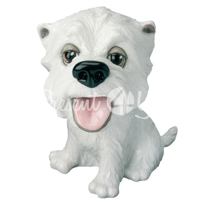 Фигурка-статуэтка коллекционная с керамики собачка вест-хайленд-уайт-терьер «Фергюс» h-12 см.
