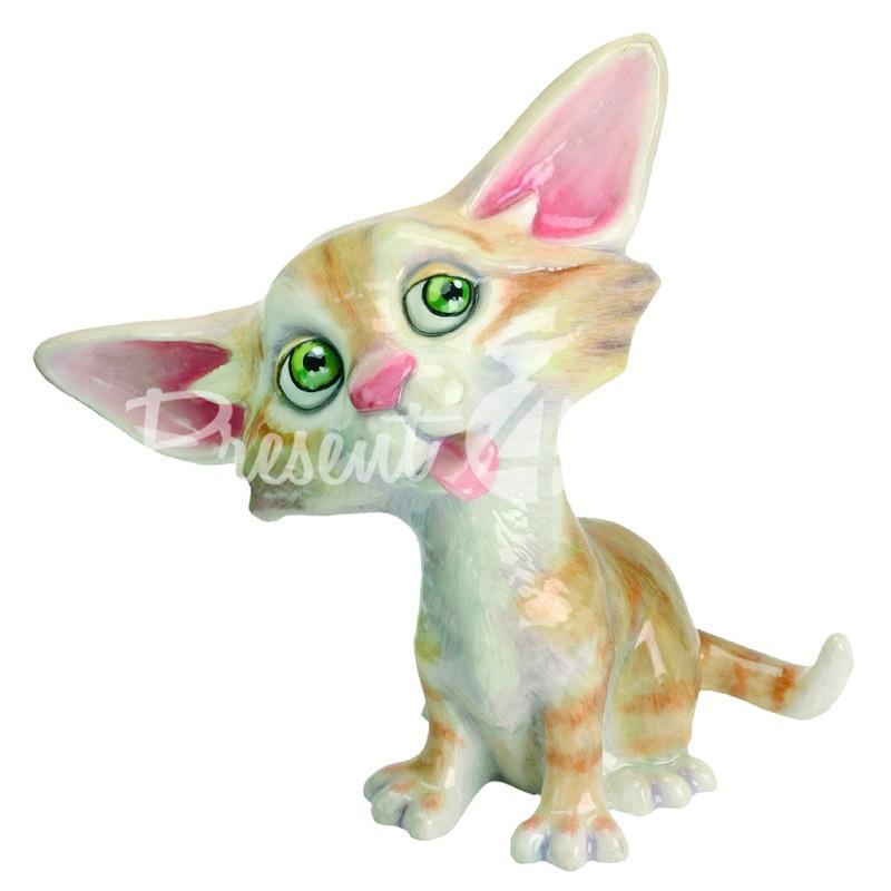 Фигурка-статуэтка коллекционная с керамики кошка «Сьюзи» Англия, h-13 см