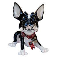Фигурка собачка бостон-терьер «Таркюн» h-12 см.