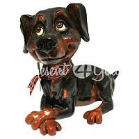 Фигурка собачка доберман «Дейзи» h-11 см.