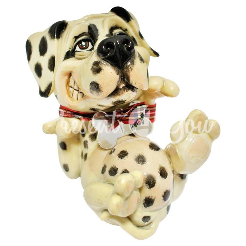 Фигурка-статуэтка коллекционная с керамики собачка далматинец «Спот» Англия, h-11,5 см