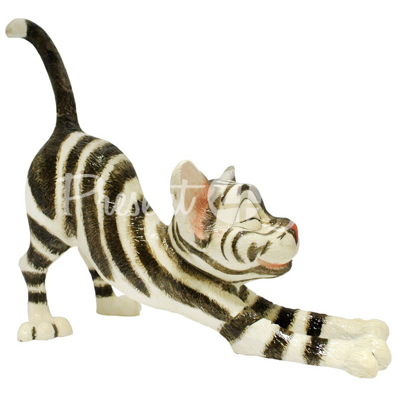 Фигурка-статуэтка коллекционная с керамики кошка «Сильвия» Англия, h-20 см