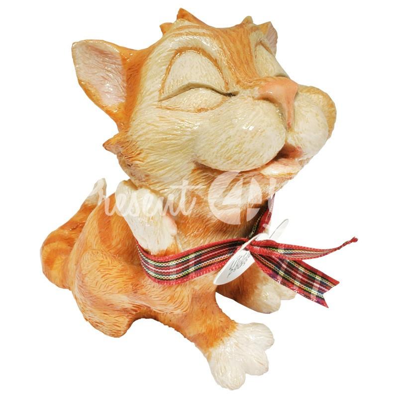 Фигурка-статуэтка коллекционная с керамики кошка «Мармелад», Англия h-11 см