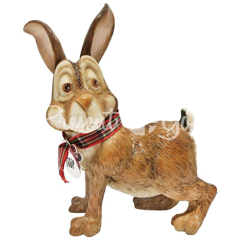 Фигурка-статуэтка коллекционная с керамики кролик «Багс» Англия, h-15,5 см